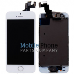 Apple iPhone 5S LCD + Digitiser White Complete With Parts - Front Camera / Earpiece